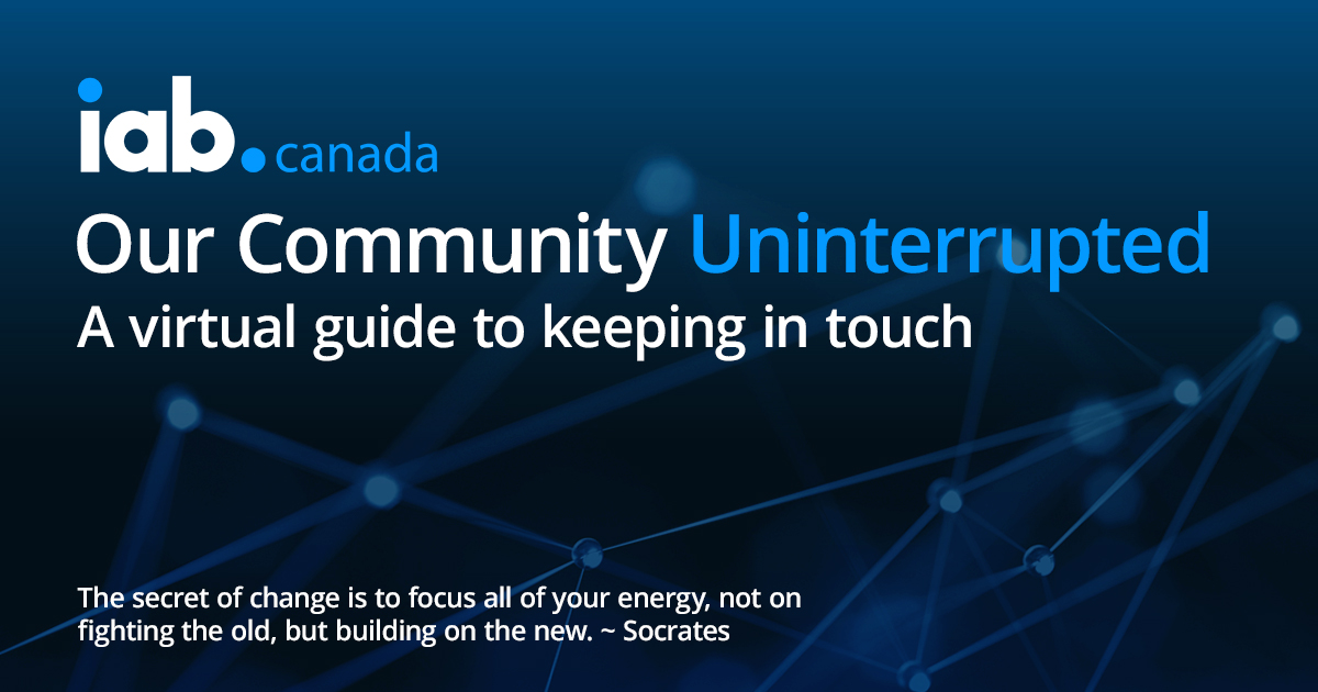Community Uninterrupted - Weekly Webinar Schedule for April 27 - May 1